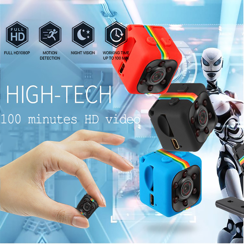HD 1080P Mini Camera SQ11 Night Vision DVR Infrared Mini Camera Camcorder Car Support TF Card DV camera Video Recorder Cameras цена