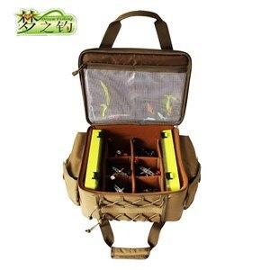 Image 2 - Dream Fishing Multifunctional Fishing Bag 47*29*21cm Large Capacity  Fishing Reel Bag 1200D Waterproof Nylon Tackle Bagpack