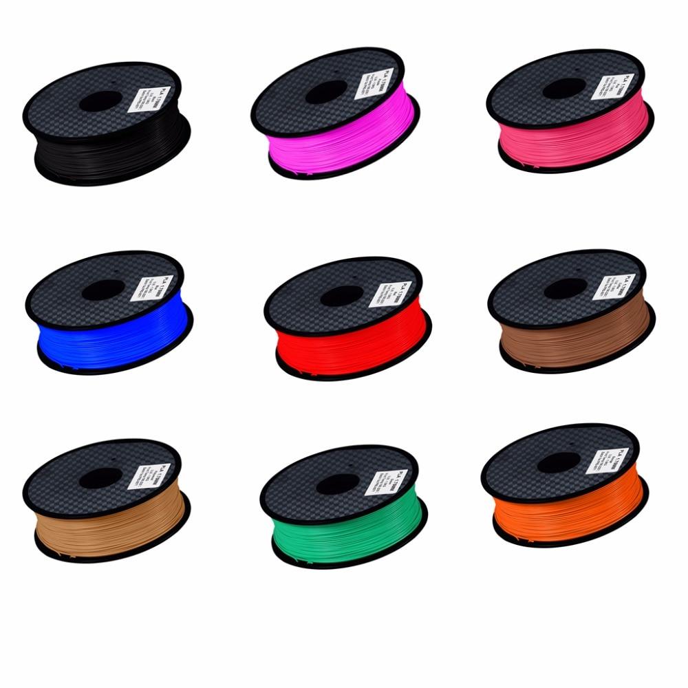 3D printer filament PLA 1.75mm 1kg plastic Rubber Consumables Printing Material 12 kinds colours for you choose цена и фото