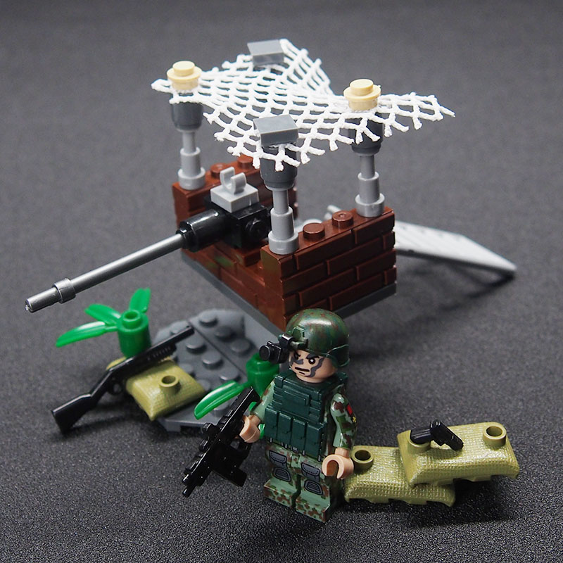 Image 4 - WW2 Military weapon gun soldier Set Army Schwarzwald Building brick Kids DIY Compatible Legoings Toy For Kids-in Blocks from Toys & Hobbies