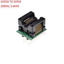 SOIC20 SOIC 20 SOP20 à DIP20, adaptateur de programmeur, largeur du corps 5.4MM, 209MIL IC, convertisseur, puce de test