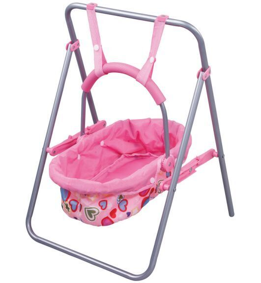 Simulation doll baby cradle swing girl play house toy carts gift
