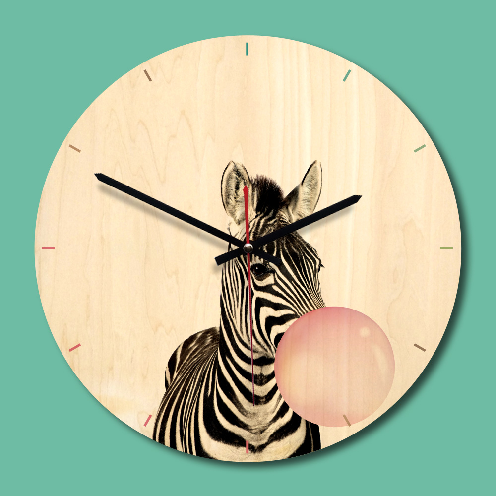 11 Inch Wall Clock Modern Design Cartoon Wooden Wall Watch Living Room Decoration Special Gift 3D Wall Clock