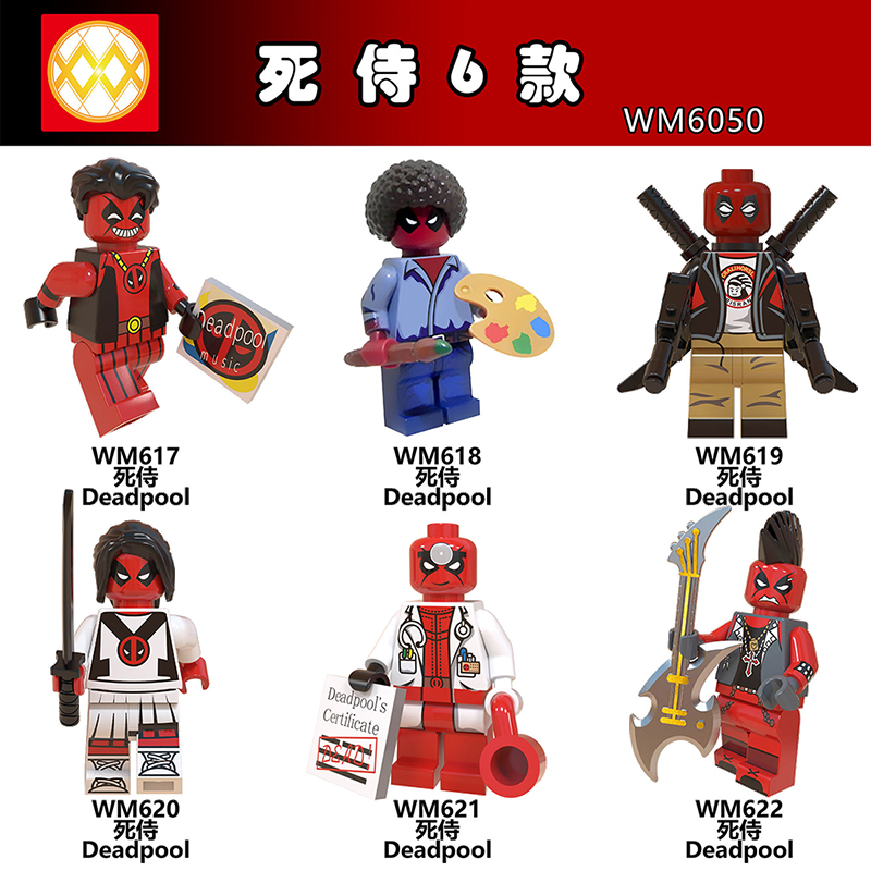 Blocks Single Legoing Marvel Avengers Deadpool Action Figure Domino Cable Peter Gwenpool Building Blocks Gifts Toys For Children Wm6050 Relieving Rheumatism And Cold