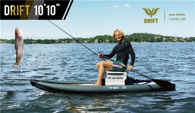 Aqua marina drift fishing sup inflatable fishing paddle for Inflatable fishing paddle board