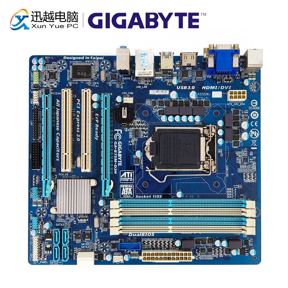 Gigabyte GA-B75M-D3H Desktop Motherboard B75M-D3H B75 LGA 1155 i7 i5 i3 DDR3 32G SATA3 USB3.0 DVI VGA HDMI Micro-ATXGigabyte GA-B75M-D3H Desktop Motherboard B75M-D3H B75 LGA 1155 i7 i5 i3 DDR3 32G SATA3 USB3.0 DVI VGA HDMI Micro-ATX