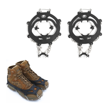 8 teeth stud crampon ice gripper grip spike climb shoe cleat antiskid Snowshoe outdoor winter walk no skid snowfield fish