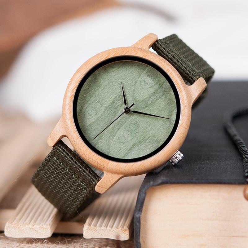 BOBO BIRD Relojes de bambú de madera natural para mujer Reloj - Relojes para hombres - foto 4