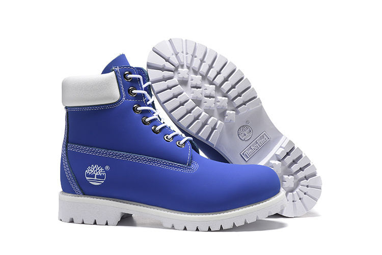 TIMBERLAND Women 10061 Sky Blue White Fashion Motorcycle Martin Ankle Army Boots,Woman Girl Leather Street Casual Shoes 36-40 1