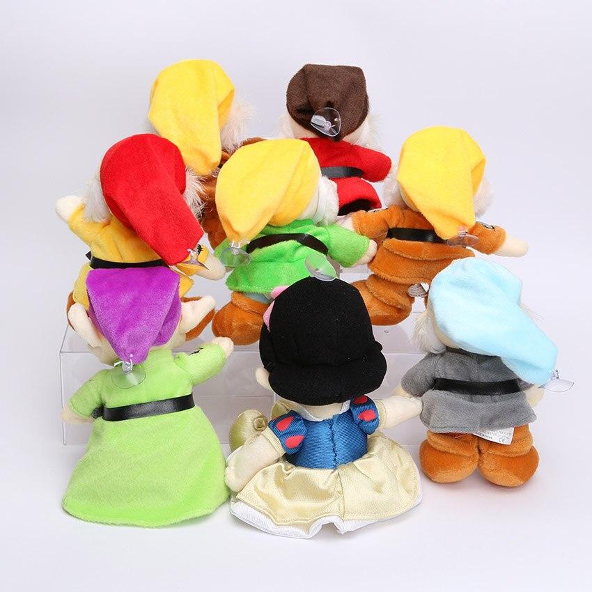 """送料無料8ピース/セット20センチを白雪姫プリンセスと8 """"七人の小人ソフトぬいぐるみ人形のおもちゃセット用誕生日ギフト  グループ上の おもちゃ & ホビー からの ぬいぐるみ & フラシ天 動物 の中 2"""