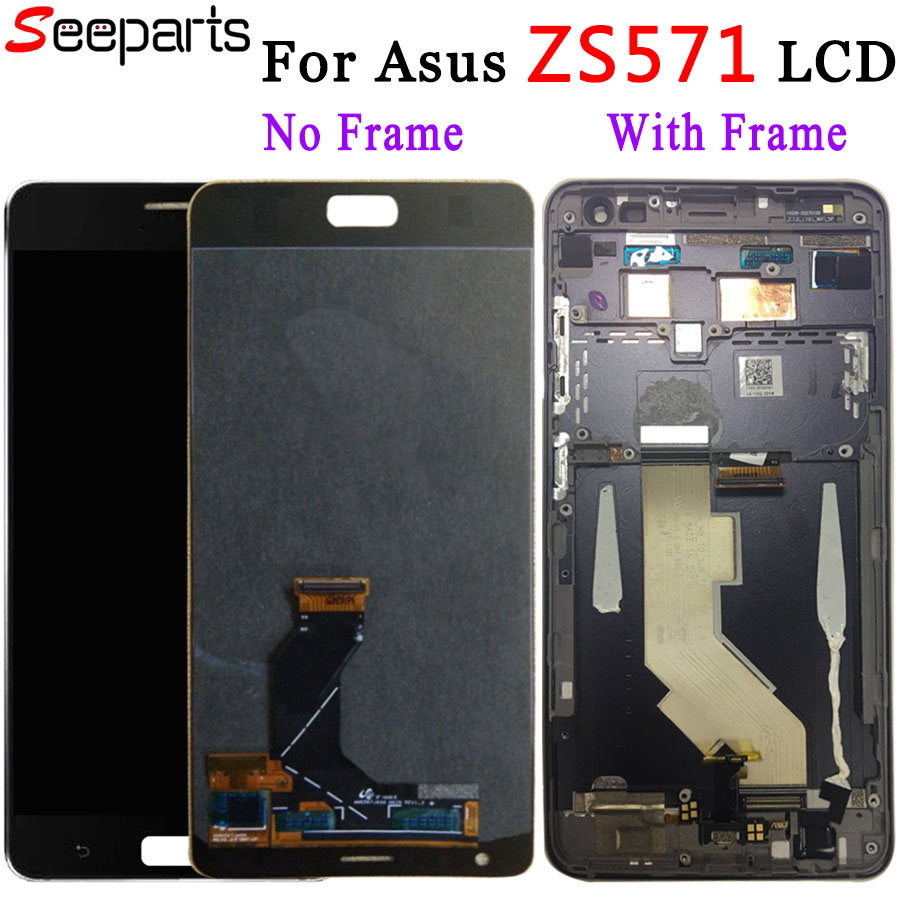 For 5.7 Asus Zenfone ZS571KL LCD Display Touch Screen Digitizer Assembly ZS571KL With Frame Replacement For ASUS Zenfone AR LCDFor 5.7 Asus Zenfone ZS571KL LCD Display Touch Screen Digitizer Assembly ZS571KL With Frame Replacement For ASUS Zenfone AR LCD