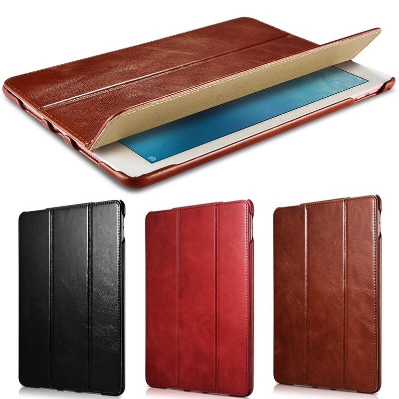 Fashion Ultra Slim Magnetic Smart Case Skin Cover For IPad Pro 9 7 Original Genuine Leather