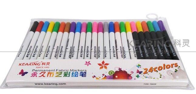 1pcs 20 Colors Fabric And T-Shirt Liner Marker Pens Textile Paint Cloth Pigment DIY Painting Supplies (Only 1pcs ,not 20pcs )