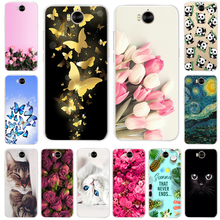 For Huawei Y6 2017 Cover Soft Silicone Phone Case For huawei Y5 2017 Case Bumper For Huawei Y5 Y6 2017 mya-l22 mya-u29 Cover цена 2017
