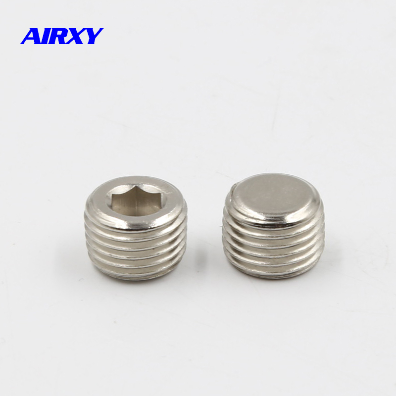 10pcs Pneumatic Fittings Threaded Internal Hex Head Pipe Plugs end cap 3//8/'/'