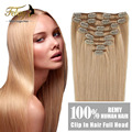 "Clip In Human Hair Extensions 7Pcs/set 70g Clip In Hair Extensions 14""-20"" Brazilian Straight Human Hair Clip In Extensions"