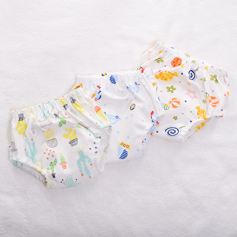 New Reusable Baby Training Pants Infant Cloth Diapers Nappy Washable Cotton Gauze Baby Panties For Newborn Potty Underwear
