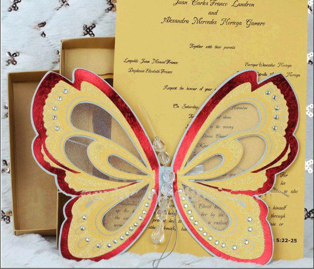 Colorful Elegant Butterfly Wedding Invitations Thanksgiving Party – Elegant Butterfly Wedding Invitations