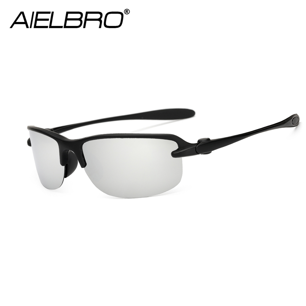 AIELBRO 2019 New Fashion Black Frame Polarized Sunglasses Men Sport Outdoor Driving Sports Fishing Eyewear