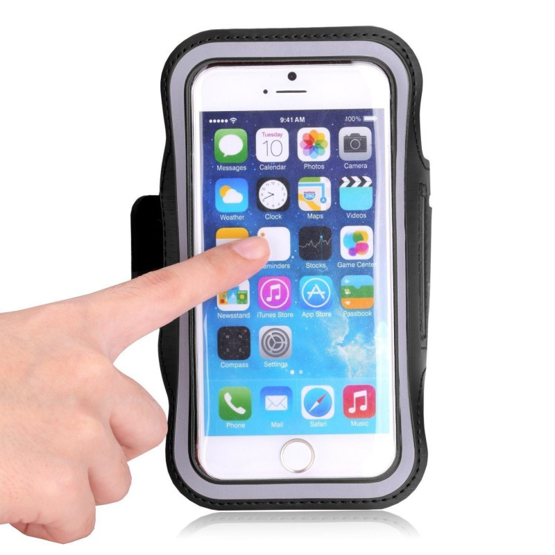 Running Bags Outdoor Waterproof Cell Phone Bag Bike Arm Bag Exercise Run Gym Phone Accessories Cover Bag Black