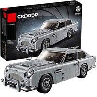 Дизайн серии 10262 Aston Martin DB5 комплект Строительные блоки Кирпич Дети модель автомобиля подарки игрушки Совместимость с