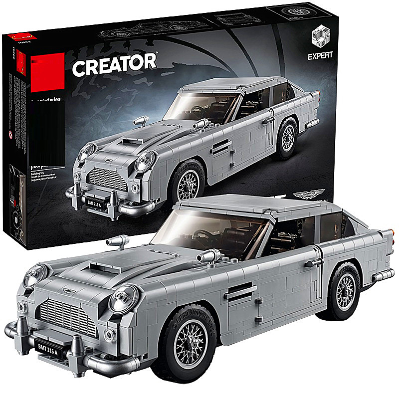 Técnica de la serie 10262 de Aston Martin DB5 conjunto de bloques de construcción ladrillos niños modelo de coche regalos juguetes Compatible con