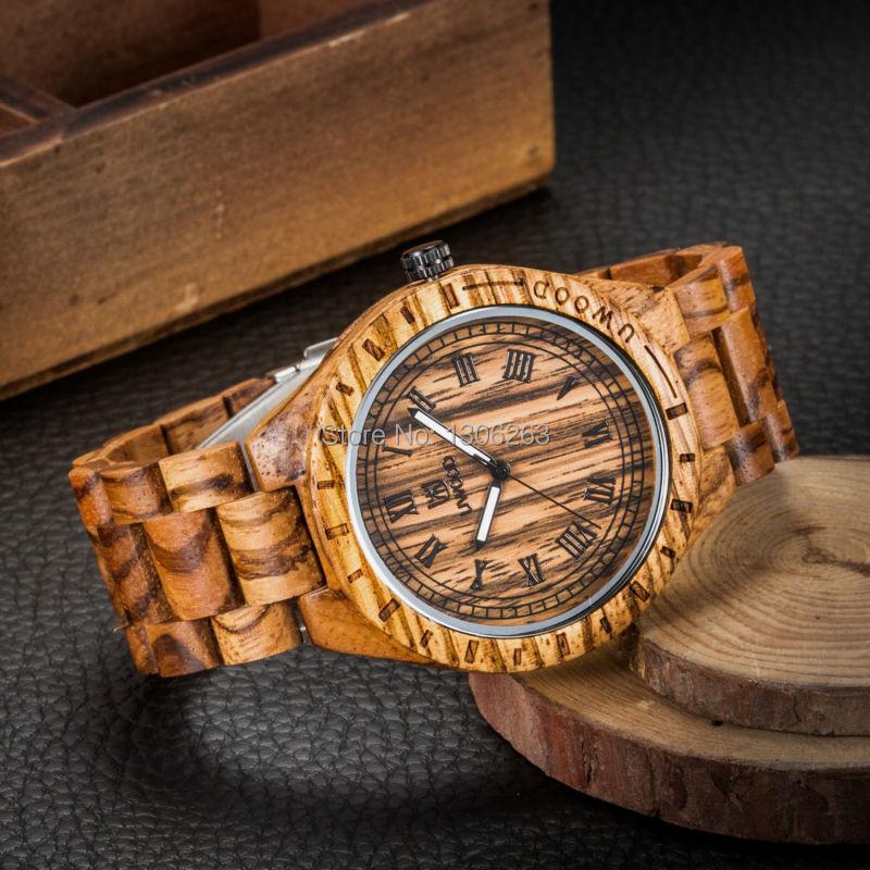 Naujas atvykimo derliaus dizainas vyrų verslo žiūrėti medienos - Vyriški laikrodžiai - Nuotrauka 3