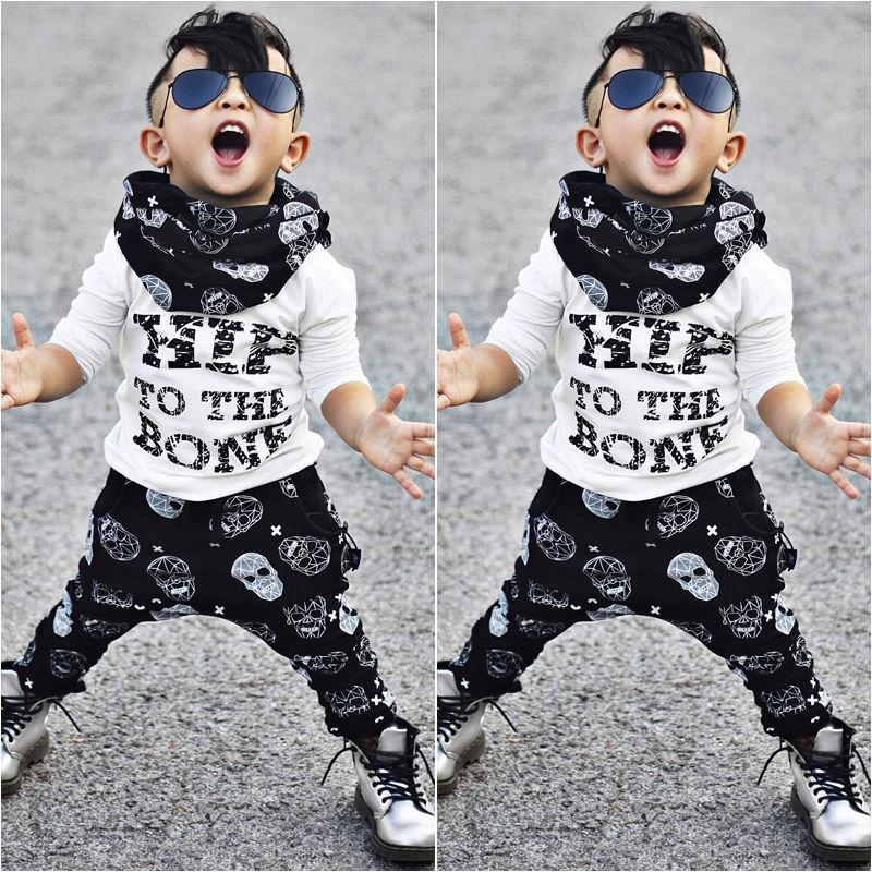 Casual Toddler Kids Baby Boy Clothing Set T-shirt Tops + Pants 2Pcs Boys Clothes Summer Style Children Suit for Boys 2017 number series no 5 print toddler boy shirts 2016 baby boys t shirt brand designer t shirt summer boys clothes children s tops