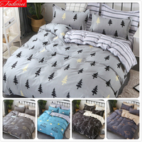 fresh style trees deer bedlinens high quality sanding cotton fabric Single Queen King Full size duvet cover 3/4 pcs bedding set