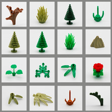 Legoingly Vänner City Jungle Figur Accessory Del Byggstenar Brick Plant Tree Grass Militär MOC Educational Toy Children