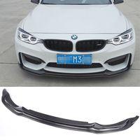 Углерода Волокно спереди для губ для BMW M3 M4 F80 F82 f83 бампера для губ Средства ухода за кожей kit передний спойлер