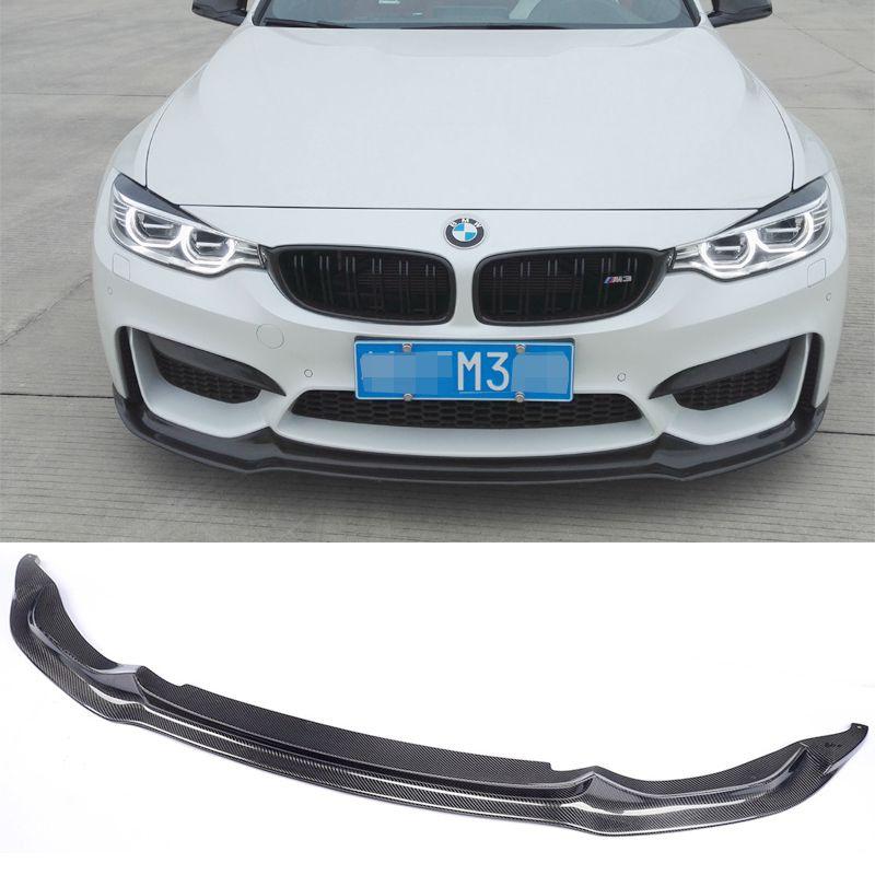 Carbon Fiber Front Lip For BMW M3 M4 F80 F82 F83 Bumper