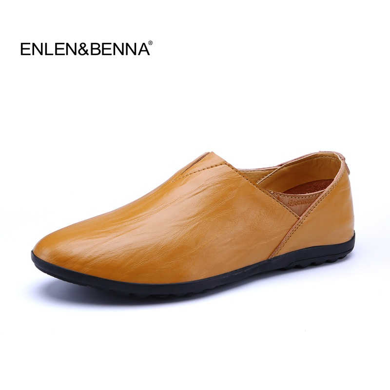 Enlenbenna Brand Fashion New Style Soft Moccasins Men Loafers High Quality Genuine Leather Shoes Men Flats Gommino Driving Shoes 2017 new brand breathable men s casual car driving shoes men loafers high quality genuine leather shoes soft moccasins flats