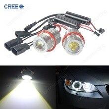 E39 E60 E61 E87 E53 E63 E65 E83 90W LED Angel Eye Halo Light Bulb White 00-06  E53 X5 (CA291)