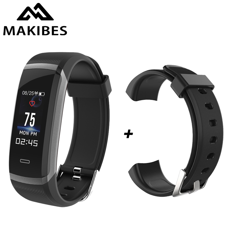"Hot Makibes HR3 Smart Wristband 0.96"" Color Screen Continuous Heart Rate Monitor Health Fitness Tracker Smart Band Call Reminder"