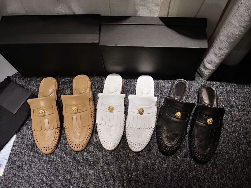 Freies Dhl Versand Original Frauen Klassische Hand-woven Echtes Leder Quasten Flache Hausschuhe Sandale Loafer ZuverläSsige Leistung