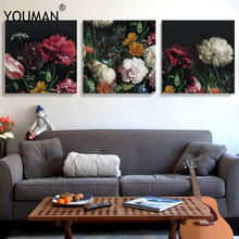 Floral Nordic Poster Abstract Colorful Leaf Oil Paint Wallpaper Art Canvas Painting Cuadros Picture Modern Home Decor Unframed simple inspirational english alphabet big dreamer canvas painting art abstract print poster picture wall home decoration