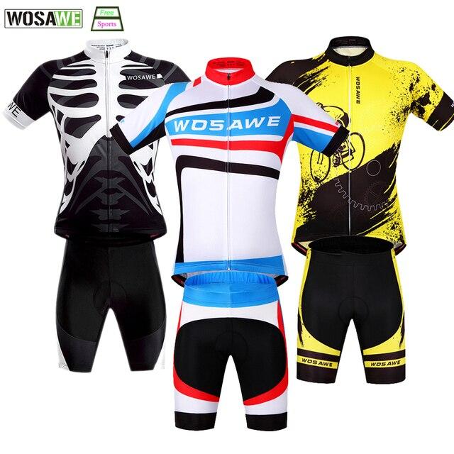 cda544624 WOSAWE Cycling Clothing Quick Drying Cycling Jersey Set MTB Bike Mountain  Shirt Shorts Riding Team Bicycle Motocross Cloth
