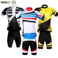 WOSAWE Cycling Clothing Quick Drying Cycling Jersey Set MTB Bike Mountain Shirt Shorts Riding Team Bicycle