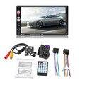 Автомобильный радиоприемник с сенсорным экраном HD, 7 дюймов, Bluetooth, стерео аудио, автомобильный мультимедийный плеер MP5 с двумя din, камера зад...
