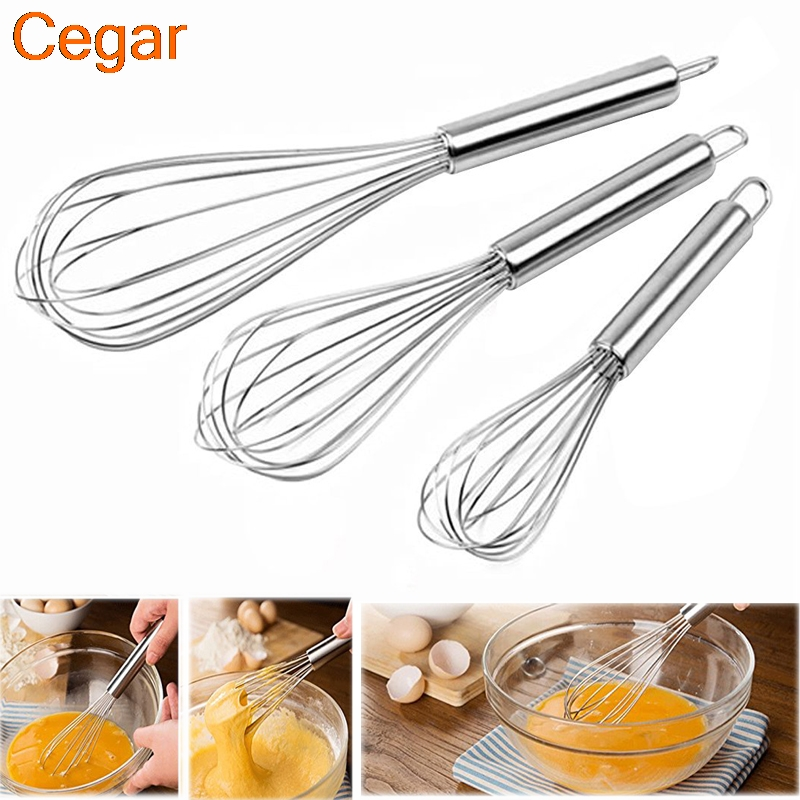8 10 12  set Kitchen Essential Tools Egg Mixer Handle Egg Beater Milk Cream Butter Whisk Mixer Stirrer Cook Tool Cake Baking