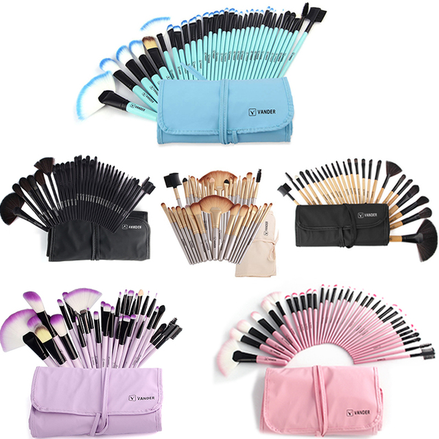 Vander 32Pcs Makeup Brushes Eye Shadows Lipstick Powder Foundation Brushes With Cosmetic Bag pincel Make Up Brushes Kits 1