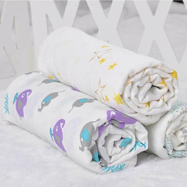 Newborn Bamboo Baby Blanket Swaddle Muslin Blanket Baby Wrap Swaddling Swaddle Towel 120x120cm Cobertor Mata Bebe bebek battaniy