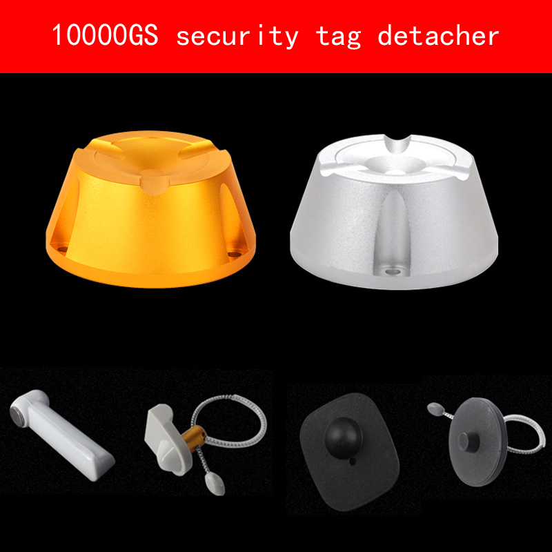 Frosted Aluminum shell magnetic force 10000GS security tag detacher eas strong magnet tag remover for Clothing mall Supermarket hybon golf detacher 15000gs universal magnet tag remover eas security detacher removedor de alarmas clothing detachers