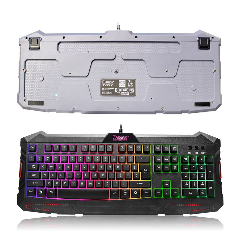 104 Key Rainbow Backlight Gaming Keyboard Computer Keyboard Keycap Qwerty USB Wired Game Keyboard With Similar Mechanical Feel