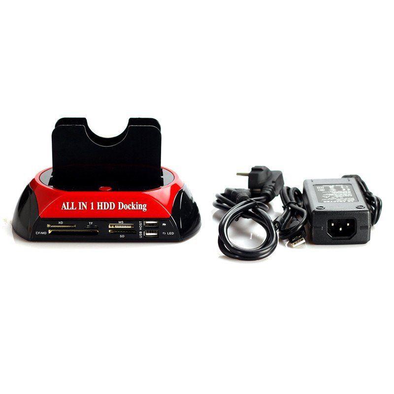 2 5 3 5 1 IDE 2 SATA USB2 0 Dual External HDD Enclosure Hard font