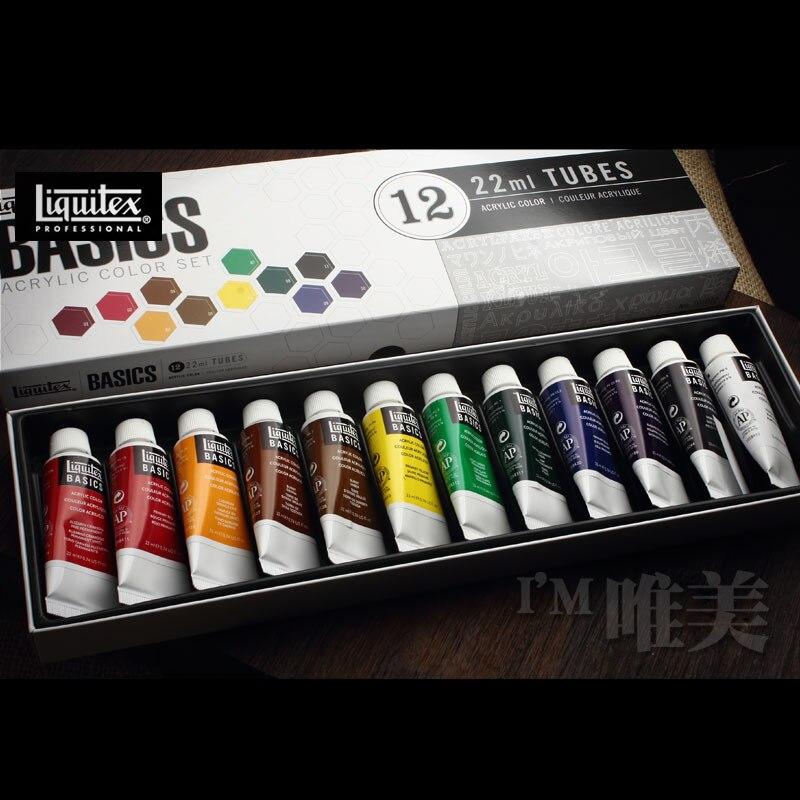 Us Liquitex Lev Special Acrylic Pigment Set 12 Color 24 Color Tube Art Painting 22ml Nail Polish