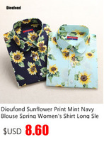 Женские блузки и Рубашки Dioufond Blusas Feminino long sleeve shirt women B012