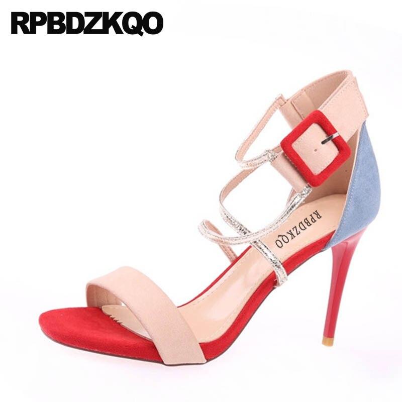 Lujo Abierta Estilete Sexy Diseñador Mujer Negro Camel Zapatos Tacón HwZxqF8