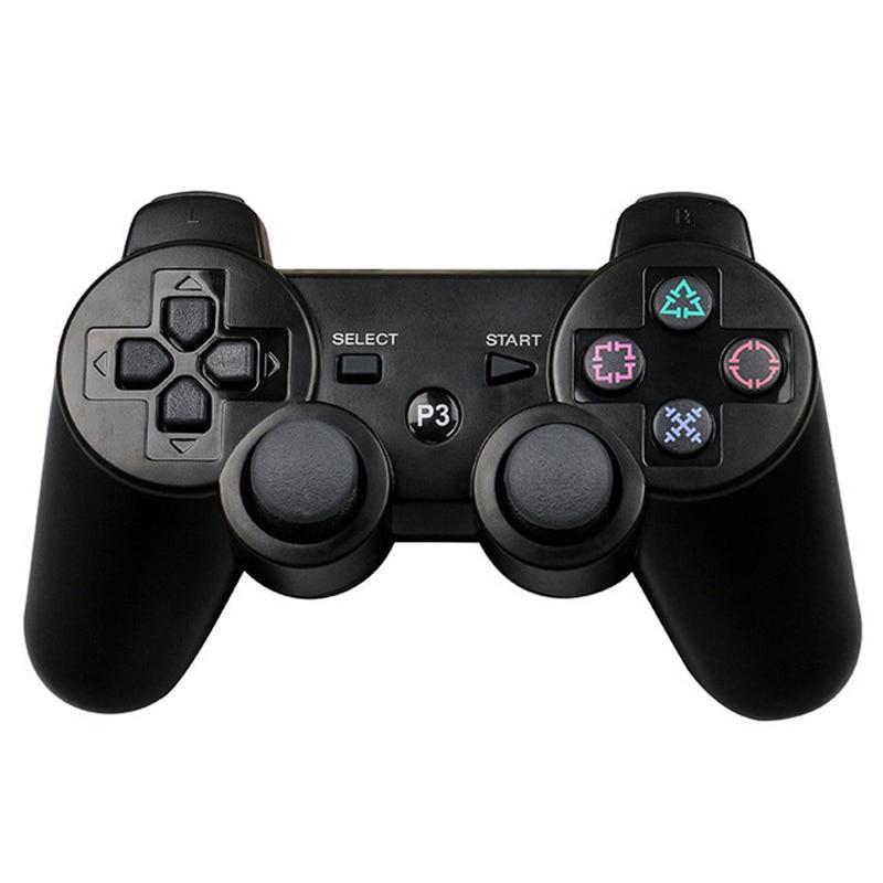 JIELI Bluetooth inalámbrico de Color sólido controlador para Sony PlayStation Dualshock 3 PS3 controlador vibración Gamepad con el paquete
